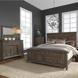 Artisan Prairie King Panel Bed, Dresser & Mirror