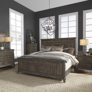 Artisan Prairie King Panel Bed, Dresser & Mirror, Chest, Night Stand