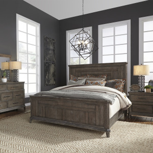 Artisan Prairie King Panel Bed, Dresser & Mirror, Night Stand