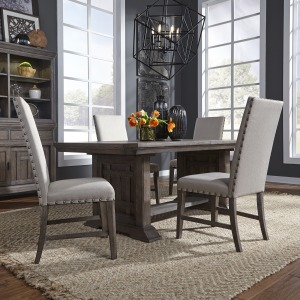 Artisan Prairie 5 Piece Trestle Table Set