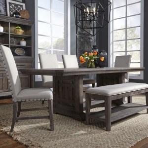 Artisan Prairie 6 Piece Trestle Table Set