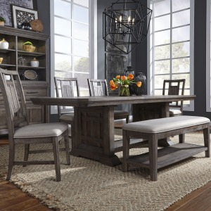 Artisan Prairie Opt 6 Piece Trestle Table Set