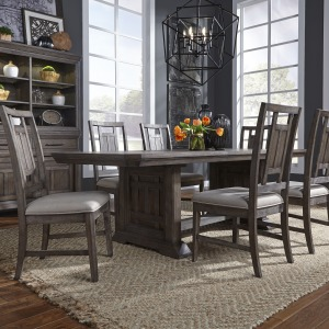 Artisan Prairie Opt 7 Piece Trestle Table Set