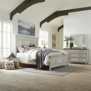 Heartland King Panel Bed, Dresser & Mirror