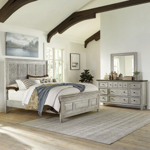 Heartland King Opt Panel Bed, Dresser & Mirror