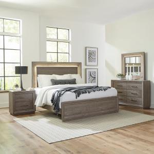 Horizons Queen Storage Bed, Dresser & Mirror, Night Stand
