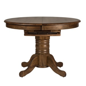 Carolina Crossing Oval Pedestal Table