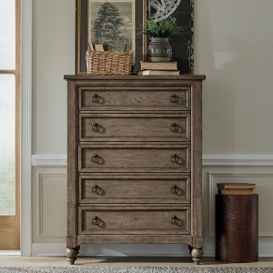 Americana Farmhouse 5 Drawer Chest