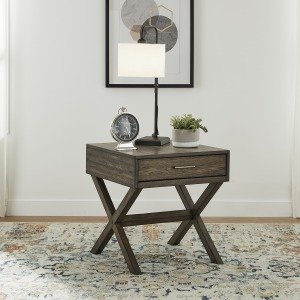Lennox Drawer End Table