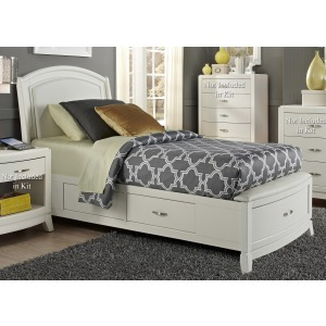 Twin One Sided Storage Bed