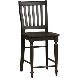 Harvest Home Slat Back Counter Chair