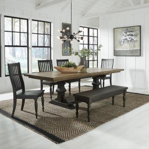 6 Piece Trestle Table Set