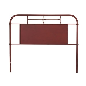 Vintage Series Queen Metal Headboard - Red