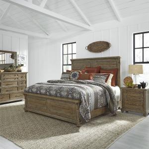 Harvest Home King Panel Bed, Dresser & Mirror, N/S