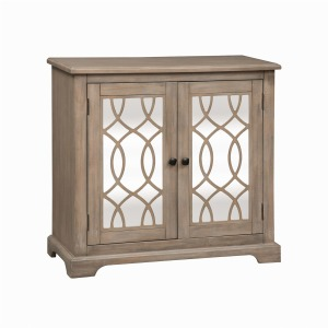 Alpine 2 Door Mirrored Accent Cabinet