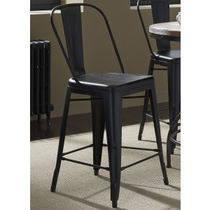 Vintage Series Bow Back Counter Chair - Black (RTA)