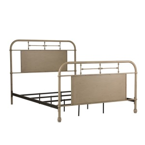 Vintage Series Queen Metal Bed - Vintage Cream