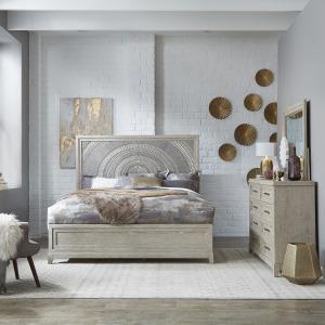 Belmar King Panel Bed, Dresser & Mirror