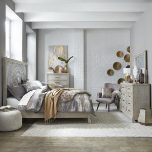 Belmar Queen Panel Bed, Dresser & Mirror, Chest