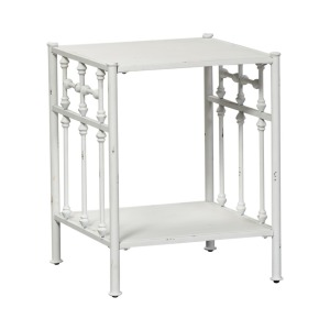 Vintage Series Open Night Stand - Antique White