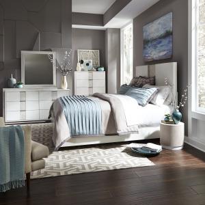 Mirage King California Panel Bed, Dresser & Mirror, Chest