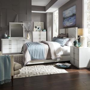 Mirage King Panel Bed, Dresser & Mirror, Chest, Night Stand