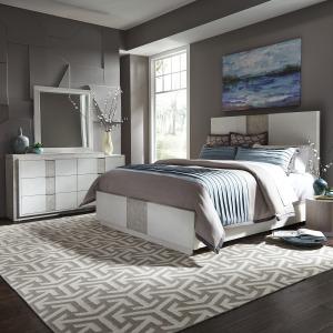 Mirage Queen Panel Bed, Dresser & Mirror