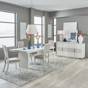 Mirage 5 Piece Trestle Table Set