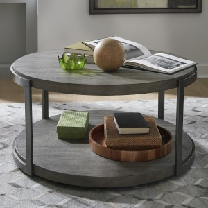 Modern View Round Cocktail Table