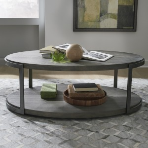 Modern View Oval Cocktail Table