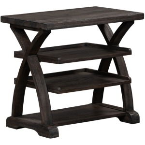 Twin Oaks Shelf End Table