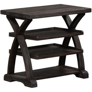 Twin Oaks Shelf End Table
