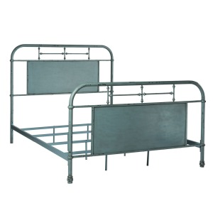 Vintage Series Queen Metal Bed - Blue