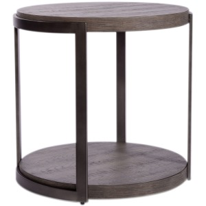 Modern View Round End Table
