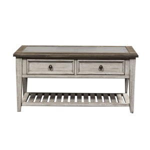 Heartland Rectangle Ceiling Tile Cocktail Table