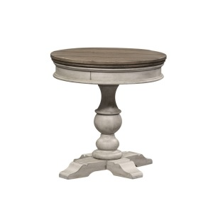 Heartland Round Pedestal Chair Side Table