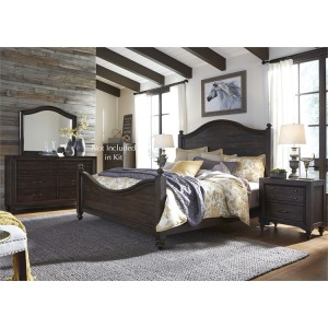 Catawba Hills King Poster Bed, Dresser & Mirror, Nightstand