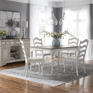 Magnolia Manor 5 Piece Leg Table Set