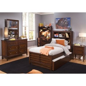 Chelsea Square Youth Twin Panel Bed, Dresser & Mirror