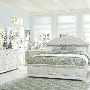 Summer House I King Storage Bed, Dresser & Mirror, Night Stand