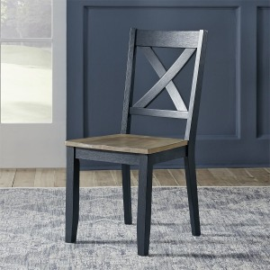 Lakeshore X Back Side Chair- Navy (RTA)