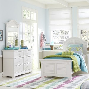 Summer House Twin Panel Bed, Dresser & Mirror