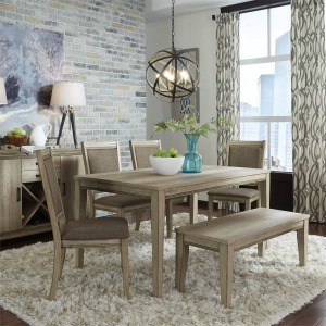 Bennox Dining Room Table And Chairs With Bench Set Of 6