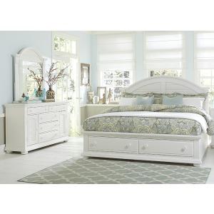 Summer House I Queen Storage Bed, Dresser & Mirror