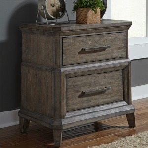 Artisan Prairie 2 Drawer Night Stand w/ Charging Station