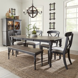 Ocean Isle 6 Piece Rectangular Table Set
