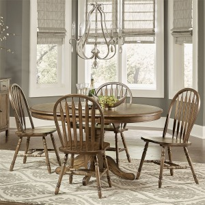 Carolina Crossing 5 Piece Pedestal Table Set