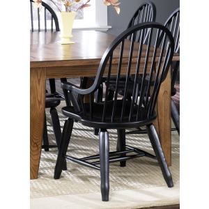 Treasures Bow Back Arm Chair - Black