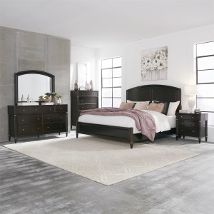 Essex King Panel Bed, Dresser & Mirror, Chest, N/S
