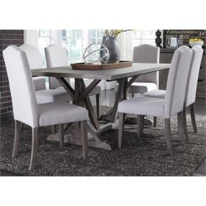 Carolina Lakes 7 Piece Trestle Table Set